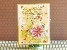 Gorgeous card by the one and only Nichol Magouirk (poinsettia is from the Jane's Doodles Vintage Christmas stamp set)