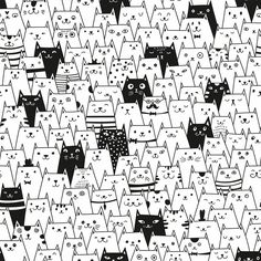 Cats coloring wallpaper, Black and white colouring wallpaper for kids room, Cat doodle wall mural, Wallpapers, Kittens coloring book Cute Cat Wallpaper, Kids Room Wallpaper, Peel And Stick Wallpaper, Doodle Wall, Cat Doodle, Wallpaper Panels, Self Adhesive Wallpaper, Adobe Illustrator, Black And White Wallpaper