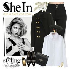 """""""SheIn - Chic in black and white!"""" by anita-n ❤ liked on Polyvore featuring Michael Kors, Ted Baker, kangol, Yves Saint Laurent, Jo Malone and Isaac Mizrahi"""