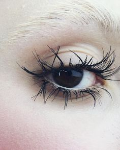 Crazy lashes  wispies chopped into bits, didn't have time to take a good pic #brokendoll #makeup