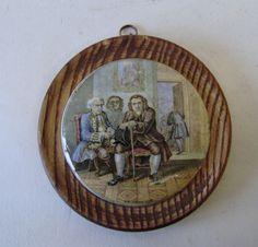 Antique Prattware Framed Gentalmans RELISH LID 'DR JOHNSON' CIRCA 1880s framed in Pottery, Porcelain & Glass, Pottery, Prattware | eBay