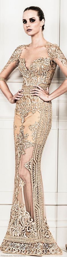 Zuhair Murad | S/S 2014 RTW. I always love his cutout peek a poo work - and those sleeves are fabulous.