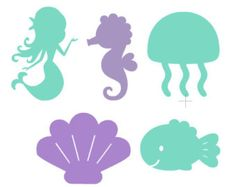 5 pcs Under The Sea Die Cuts, Mermaid Die Cuts, Mermaid Wall Decor, Mermaid Party, Under The Sea Party - Meerjungfrau-Partys - Mermaid Birthday Cakes, Little Mermaid Birthday, Little Mermaid Parties, Mermaid Cakes, Mermaid Baby Showers, Baby Mermaid, Mermaid Wall Decor, Pool Party Decorations, Under The Sea Party