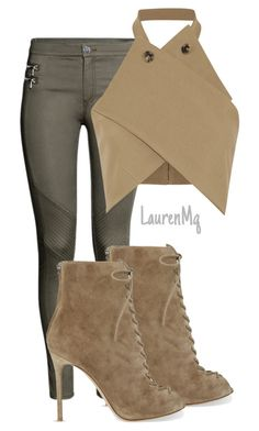 """""""Untitled #267"""" by laurenmq ❤ liked on Polyvore featuring H&M, J.W. Anderson, Gianvito Rossi, women's clothing, women, female, woman, misses, juniors and Heels"""