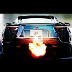 Firey Lexus LFA