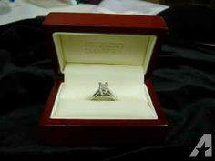 14kt White Gold .8 ct Princess Cut Diamond Solitaire Engagement Ring - - $2000 (Bellevue)