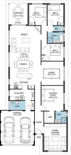 Floor plan favourite replace games with study/lounge