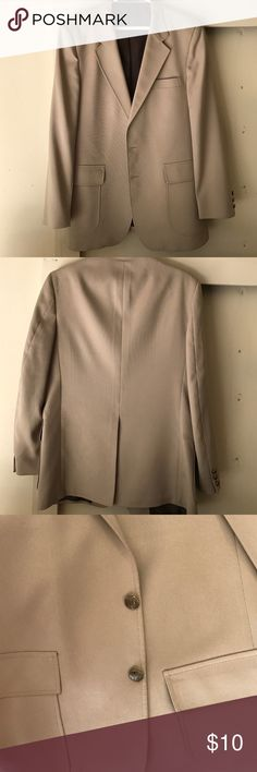 Men's coat Good shape, 2 buttons, 2 inside pockets, has stains as show, dry clean only, size 42R Jackets & Coats Vests