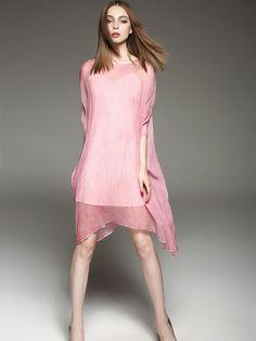 Pleated Silk Two Piece Mini Dress