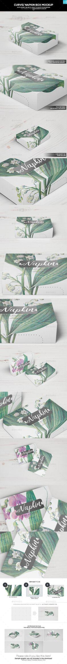 Curve/ Napkin Box Mockup