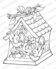 Birdhouses - Rubber Stamps - 123Stitch.com