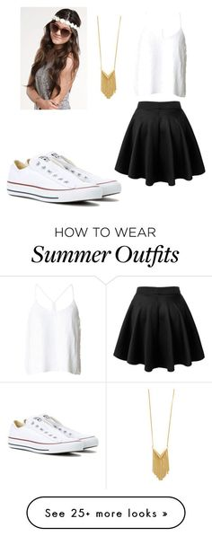 "Collection Of Summer Styles    ""Simple and cute summer outfit"" by bangel012 on Polyvore featuring TIBI, Sam Edelman and Converse    - #Outfits  https://fashioninspire.net/fashion/outfits/summer-outfits-simple-and-cute-summer-outfit-by-bangel012-on-polyvore-featuring-tibi-sam-ede/"