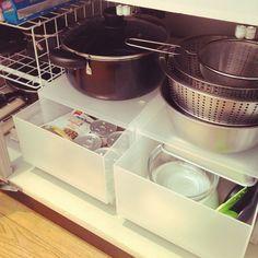 Kitchen/無印良品/一人暮らし/1LDK/賃貸/キッチン収納...などのインテリア実例 - 2016-03-20 03:43:51