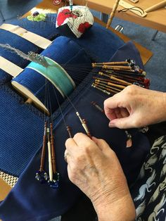 Judy Clearwater of Auckland, New Zealand, making a Torchon edging (2016)