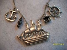 Jewelry sale ends tomorrow 7-31-13! Pirate Ship Necklace by DysfunctionalAries on Etsy, $23.00