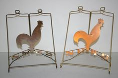 Two (2) Chase Copper Rooster News Stands.