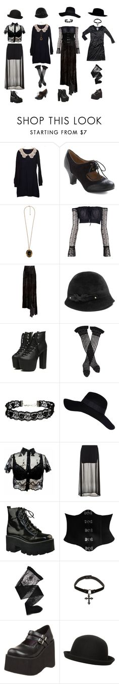 """c o v e n"" by lilafairy ❤ liked on Polyvore featuring Forever 21, Romeo Gigli, Kimberly Ovitz, Helen Kaminski, Trasparenze, ASOS, River Island, Benetton, Jeffrey Campbell and CO"