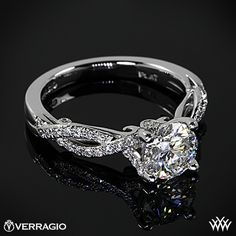 Pin It To Win It Verragio Love Giveaway with Whiteflash.com #Whiteflash #Verragio - Verragio 4 Prong Twisted Shank Diamond Engagement Ring with a 1.248ct A CUT ABOVE