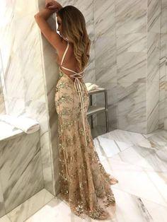 Bay Breeze Backless Long Dress Light Beige