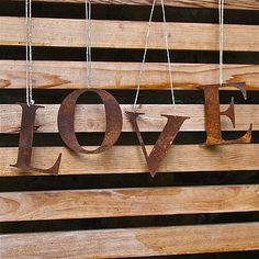 Metal Garden Letters Set Of 3  Custom Rustic House Numbers  Numbers  Initials  Wall