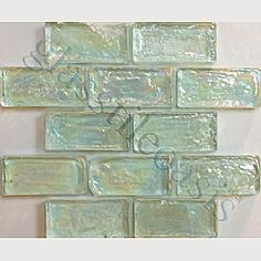 aqua glass tile - how awesome would this be as a back-splash in the kitchen?