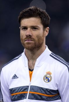 Xabi Alonso in the adidas Real Madrid Anthem Jacket 13/14