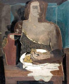 Jean SOUVERBIE (1891-1981) Femmes au pichet et aux raisins Huile sur toile, s