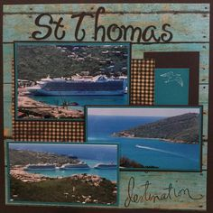 Cruise Cruise Scrapbook Pages, Vacation Scrapbook, Disney Scrapbook, Scrapbook Page Layouts, Scrapbooking Ideas, Scrapbook Cards, Picture Scrapbook, Book Layouts, Family Memories