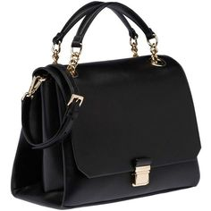 Miu Miu Top Handle (€1.935) ❤ liked on Polyvore featuring bags, handbags, bolsas, sac, black, leather handbag purse, leather man bag, real leather handbags, pocket purse and kiss-lock handbags