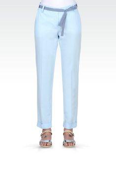 Pantalone Con Risvolto Donna Armani Jeans - Armani Jeans Official Online Store