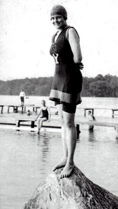 Katherine Whitney Curtis, suited up to swim, circa 1915. (Photo courtesy Jordan Whitney Wei.)