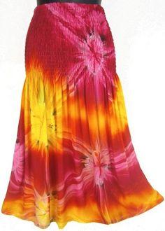 Tie-Dye Tube Top Convertible Sundress/Skirt