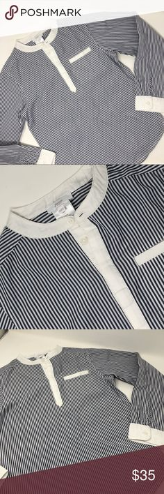 Jacadi Paris Slim Fit Cotton Stripe Top Small Fit Various Sizes NWT