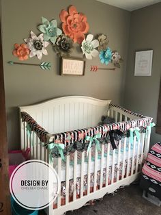 My baby girl nursery. I have waited for a girl for so long that this has been pure joy putting this together!