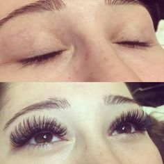 Beautiful volume lashes - obsessed!