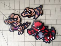 Pokemon Bead Sprite Set  Sandile Family by ToughTurtles on Etsy, $7.50