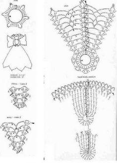 Aniołki robione na szydełku i schematy do nich