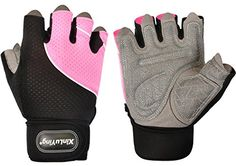 iiSPORT Women's Men's Weight Lifting Gloves With 17 Centimeter Wrist Wrap - Gym Workout Crossfit Bodybuilding Fitness Gloves ** Check out the image by visiting the link.