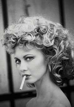 Olivia Newton-John (from the final scene of Grease) ... gorgeous (except for that nasty ciggy hanging out of her mouth)
