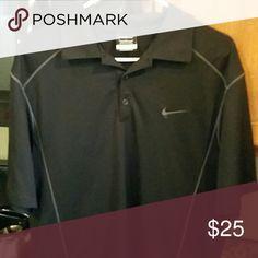 Nike Collard Shirt Black Nike Collard Golf Shirt Nike Shirts Polos