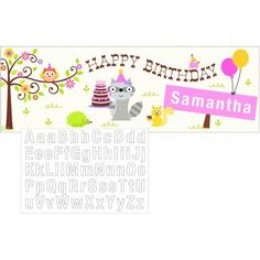 Happi Woodland Girl Party Banner ** Want to know more, click on the image. (This is an affiliate link)