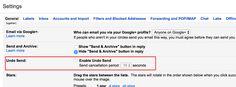 gmail & chrome tips - undo sent emails