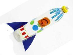 A embalagem de detergente se transforma em foguete / Divulgação