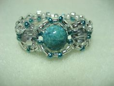 Turquoise Ring - Beaded Ring