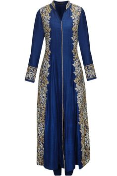 ANEESH AGGARWAL Cerulean blue dori embroidered kurta set available only at Perni… 2019 – Sommer Garten Hochzeits Kleider Pakistani Dresses, Indian Dresses, Indian Outfits, Bollywood Fashion, Hijab Fashion, Fashion Dresses, Salwar Kameez, Mode Costume, Desi Clothes