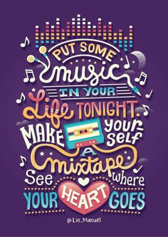 Illustrated Linspirations on Behance Put some music in your life tonight. Music Quotes, Book Quotes, Words Quotes, Wise Words, Me Quotes, Motivational Quotes, Inspirational Quotes, Sayings, Author Quotes