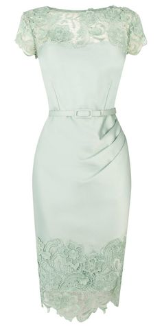 Mint pencil dress.. Winter Wedding Guest Outfit Coast Luma Duchess Satin Dress, £195