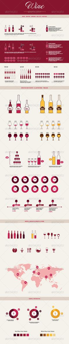 Infographic Elements - Wine Template #design Download: http://graphicriver.net/item/infographic-elements-wine/6794664?ref=ksioks