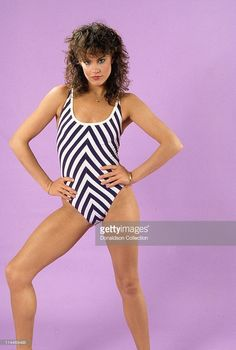 Catherine Mary Stewart poses for a portrait in 1985 in Los Angeles, California. Classic Actresses, Actors & Actresses, Catherine Mary Stewart, Comics Girls, Classic Beauty, Beach Photos, Brunettes, Tvs, Classic Hollywood