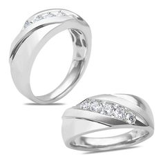 Ebay NissoniJewelry presents - Men's 1/2CT Diamond Wedding Ring in 14k White Gold with a Cage Back    Model Number:GR9434H-W477    http://www.ebay.com/itm/Men-s-1-2CT-Diamond-Wedding-Ring-in-14k-White-Gold-with-a-Cage-Back/221630486090